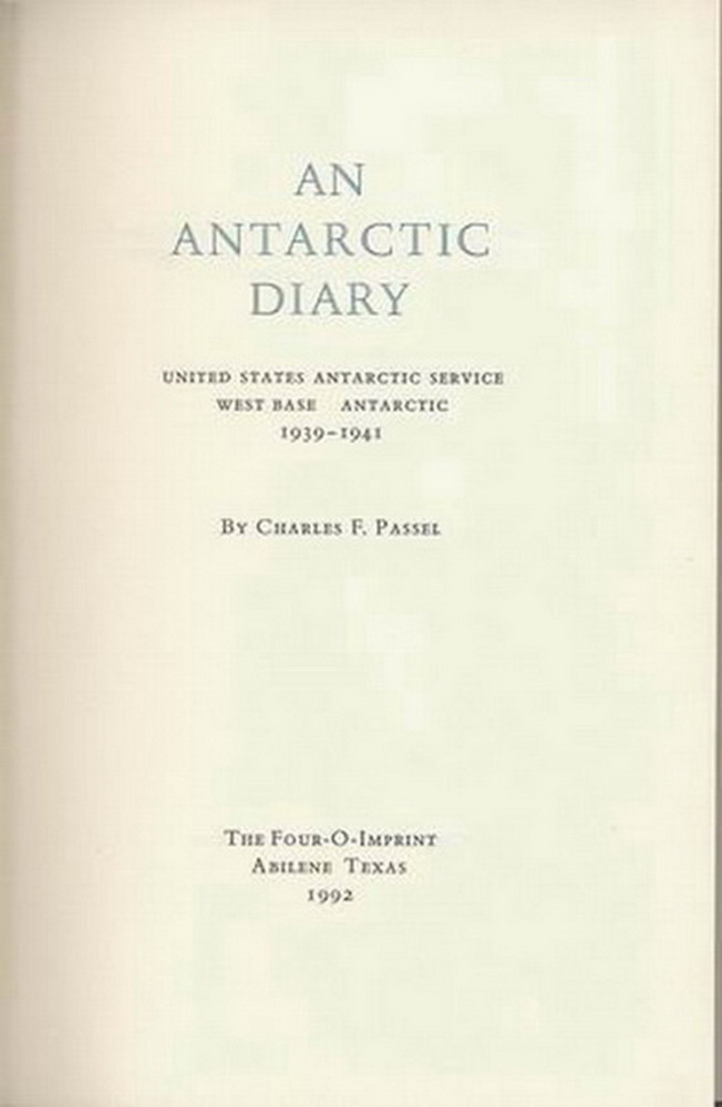 Image for An Antarctic Diary