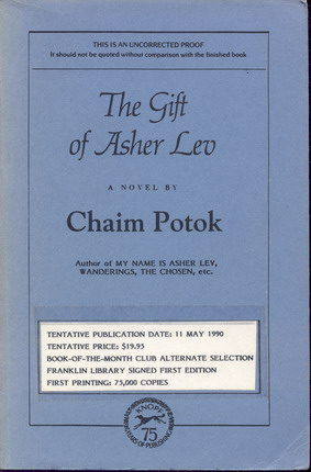 Image for Gift of Asher Lev, The