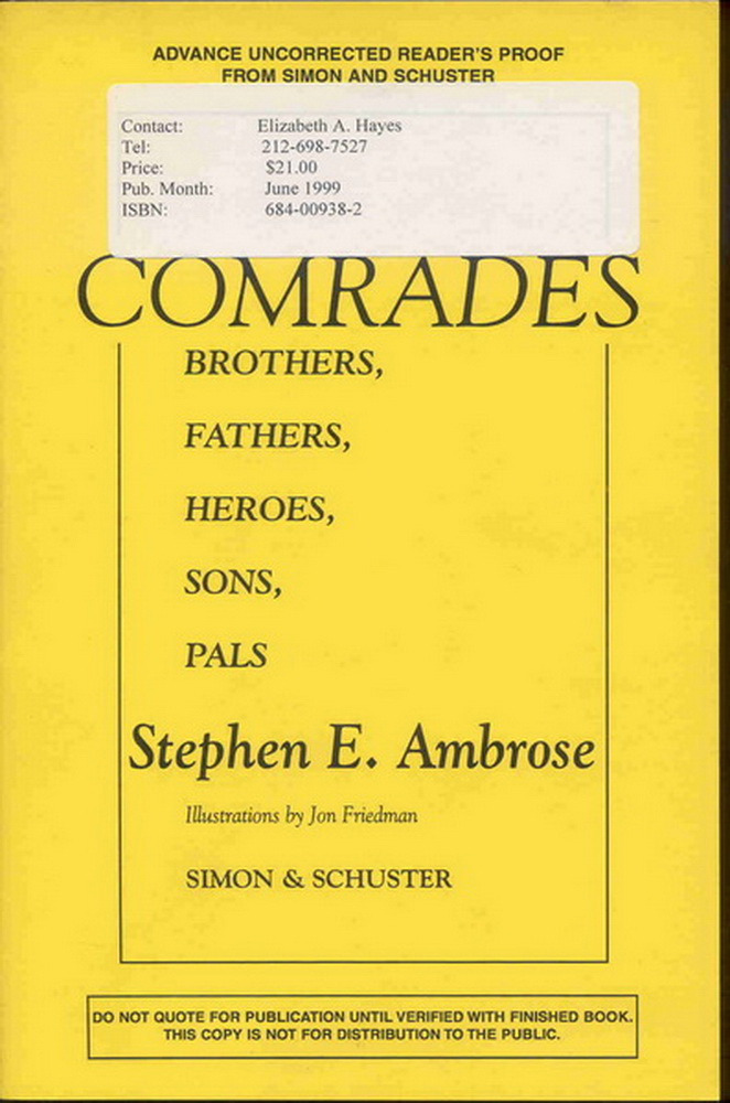 Image for Comrades: Brothers,Fathers,Heroes,Sons,Pals