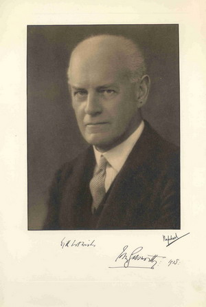 Image for Bookman Portfolio Christmas 1928: Portrait of John Galsworthy with Scenes Illustrating the Forsyte Saga