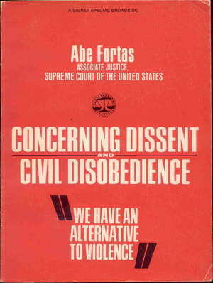 Image for Concerning Dissent and Civil Disobedience